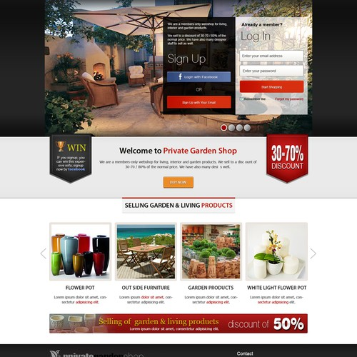 Help Private Garden Shop with a new website design