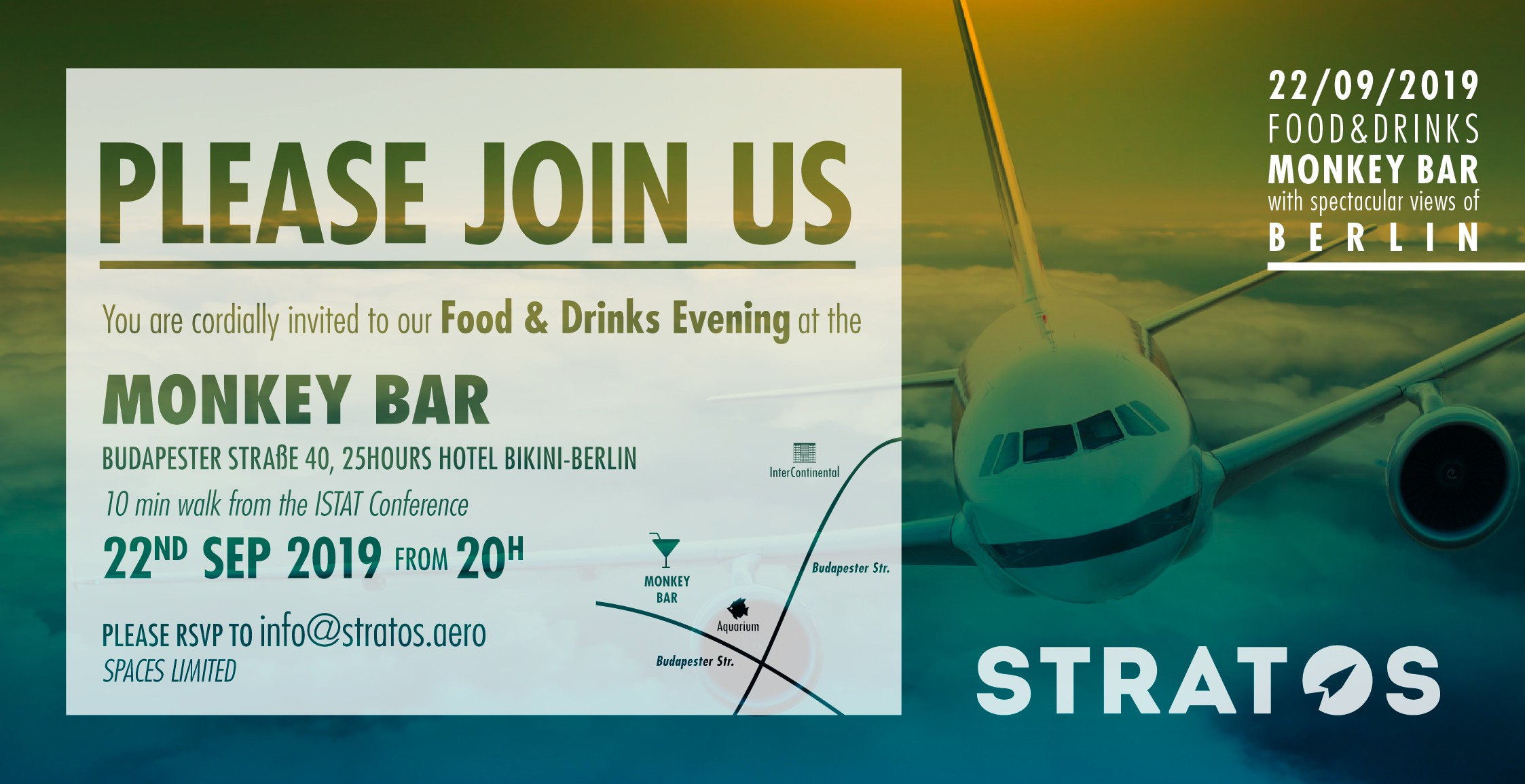 Create an invitation for an Aviation Industry Event
