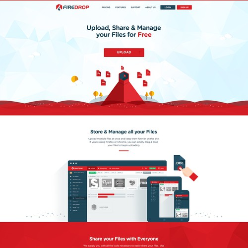 Creative Unique Illustration Web Design