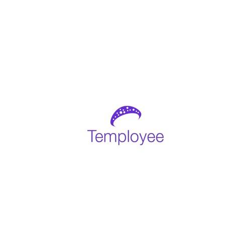 Mushroom logo concept for temployee