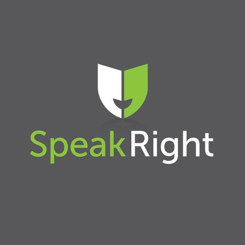 Logo for Speak Right