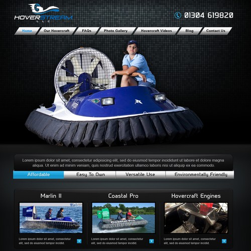 Hovercraft boat  water sports