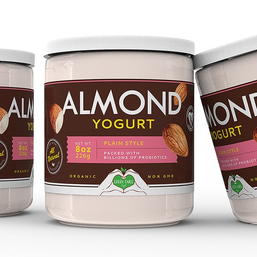 Almond Yogurt Label
