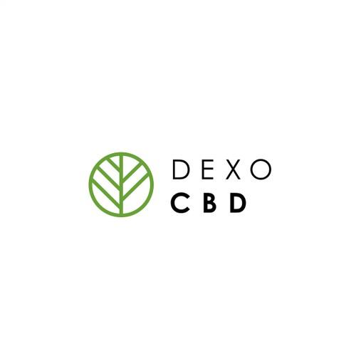 Minimalist logo for CBD oil product