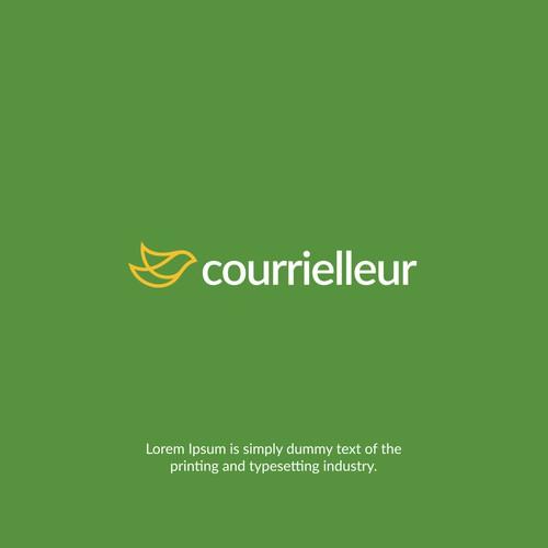 Courrielleur logo design
