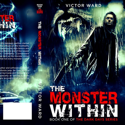 Book Cover for Dark Days: The Monster Within. Paranormal police novel.