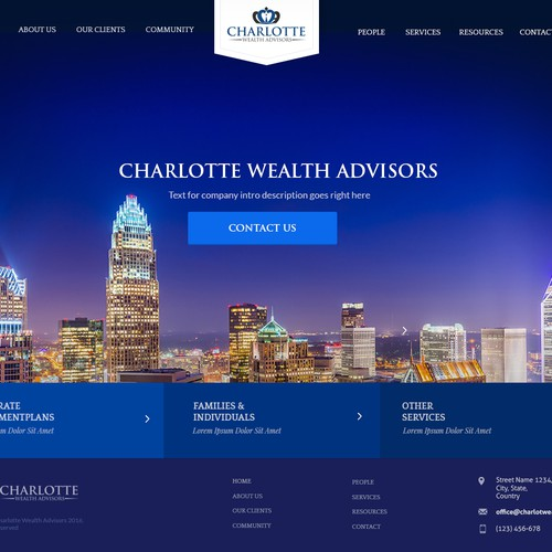 Charlotte Weal Advisors Landing Page