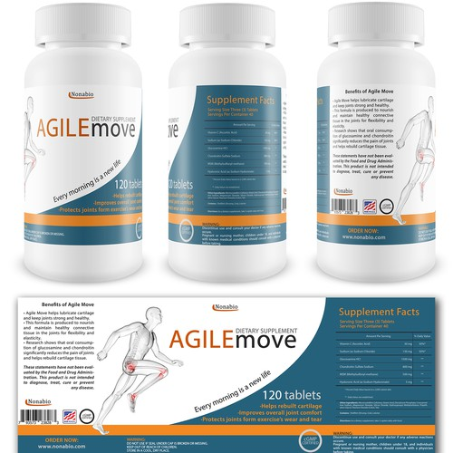 Clean label and render for Amazon for dietary supplement
