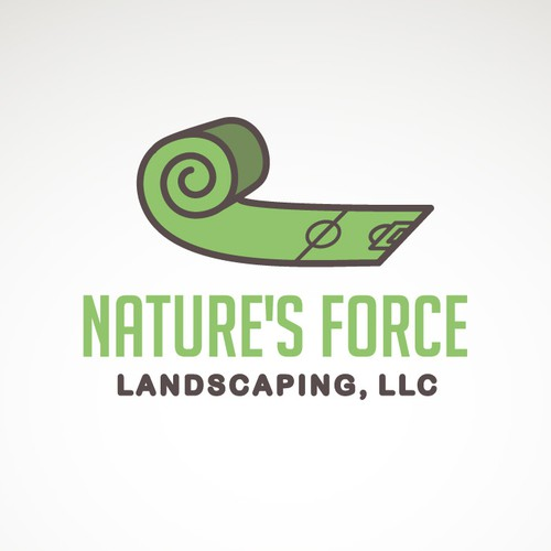 Nature's Force Landscaping brand identity