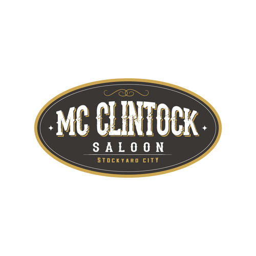 Logo for an old fashion saloon with country live music