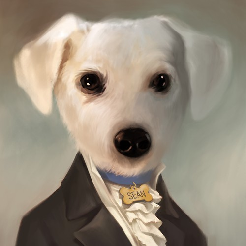 Cute portrait of Sean the Dog