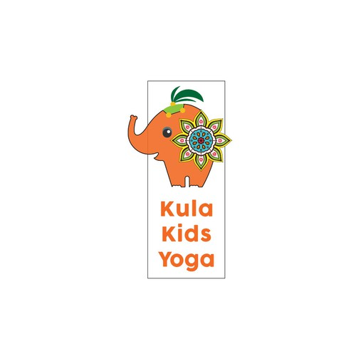 Colorful logo concept for a Yoga studio for kids!