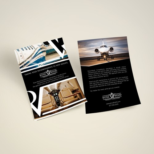 Brochure/flyer for aircraft completion company