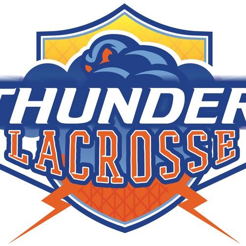 Thunder Lacrosse Logo design.