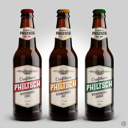 Craft beer labels design