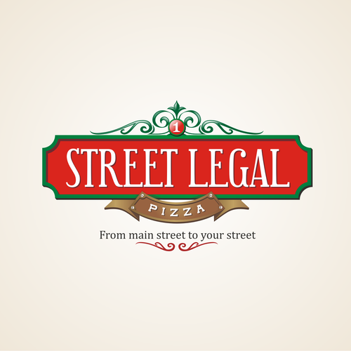 emblem logo concept for pizzeria