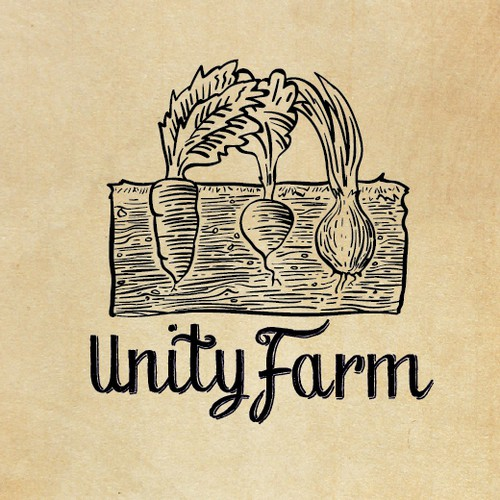 Organic Farm Food Logo