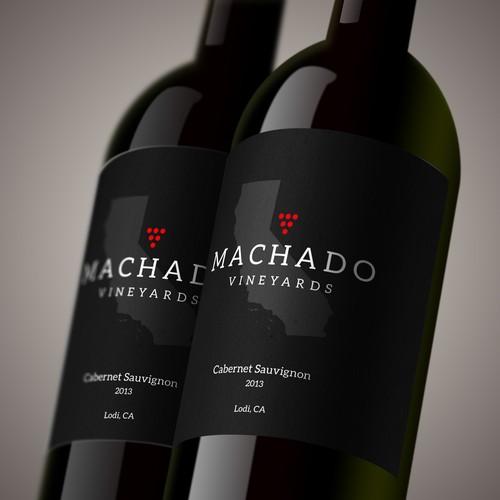 Design of California wine label