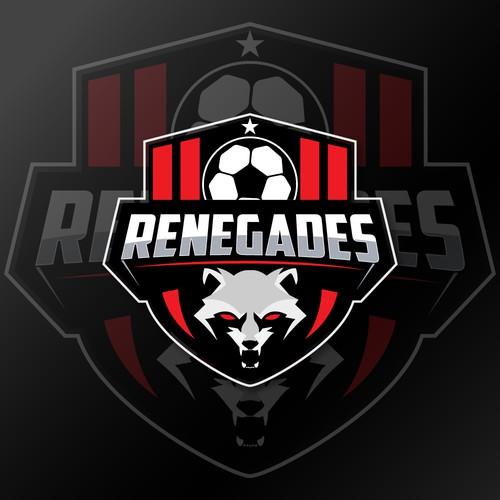 Logo for RENEGADES Women's flag football team.