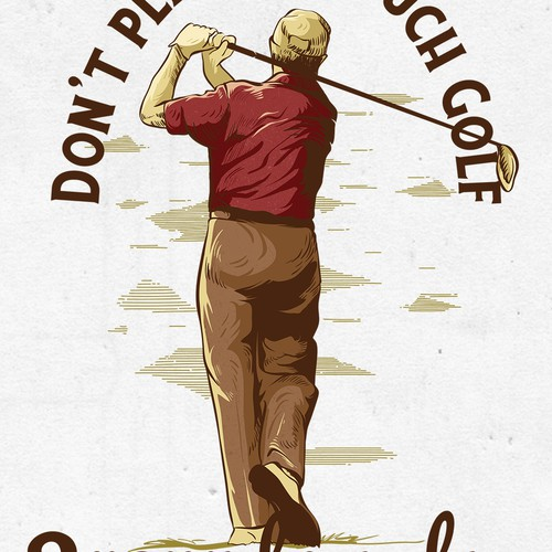Vintage illustration for golf club