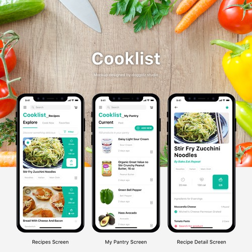 Cooklist Design Ideas