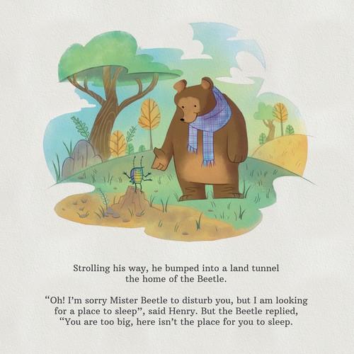 Mixed Media storybook style illustration