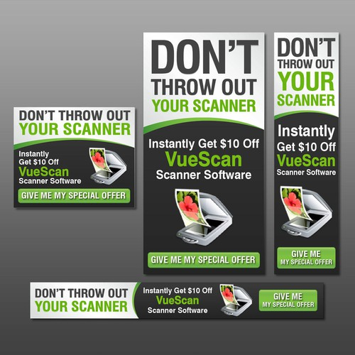 Banner ads concept for VueScan.