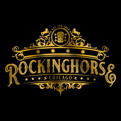 classic bold logo concept for Rockinghorse Chicago