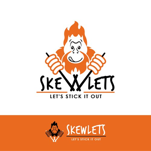 A funny mascotte for a new skewers shop in Singapore