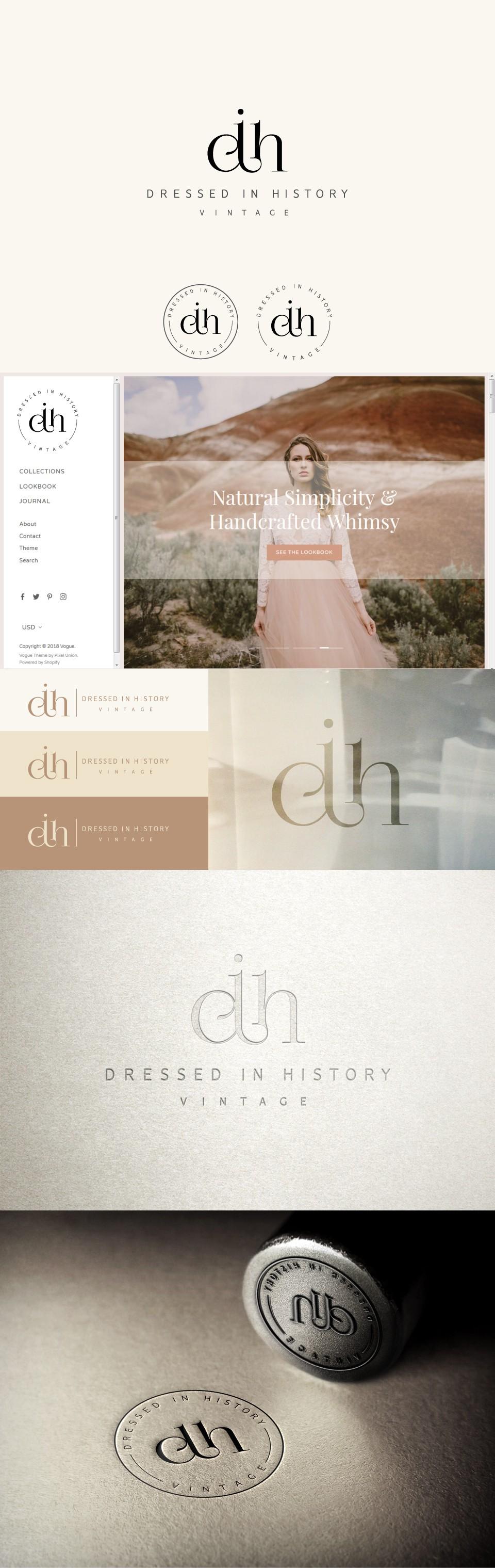 New online vintage boutique seeks elegant brand design and logo
