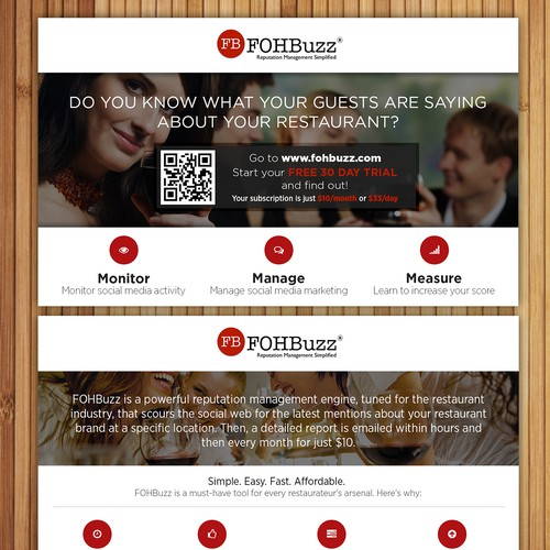 Create a winning design for FohBoh, the leading online B2B network for restaurants