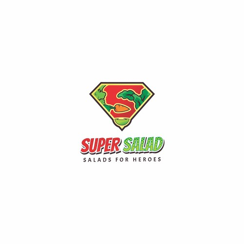 Superhero Themed Logo for Super Salad