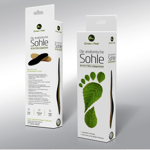 Packaging design for foot insoles
