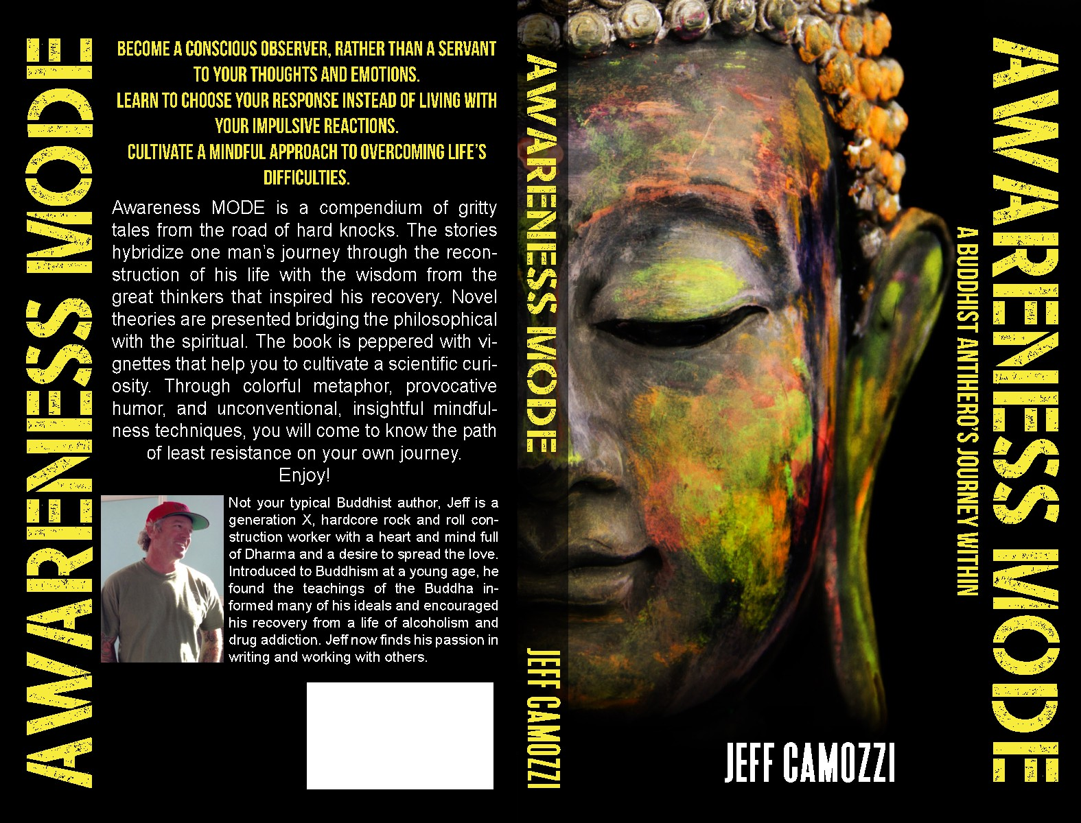 Create a bestselling book cover for revolutionary personal growth guide: Awareness M.O.D.E.