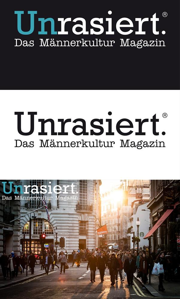 """Erstellt die Wortmarke für """"Unrasiert - Das Männerkultur Magazin"""""""