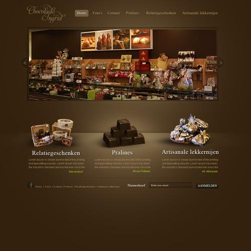 Chocolate store webdesign