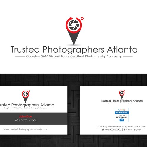 Help Trusted Photographers Atlanta with a new logo and business card