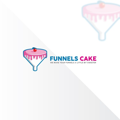 Double Meaning Logo Design In Illustrator For Funnels Cake   By CreativeJAC