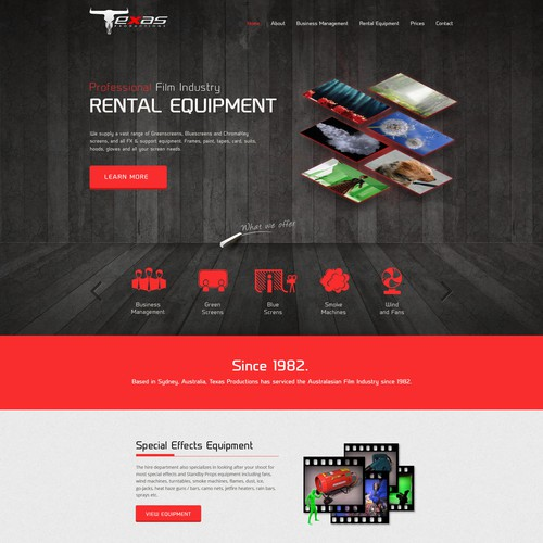 Film Industry equipment hire company needs a fresh look