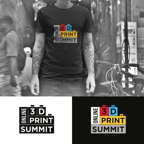 Geometrical Logo - 3D Print Summit