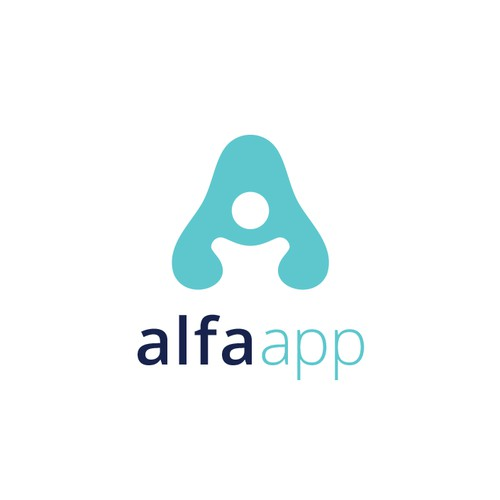 SImple and Modern logo for alfa app