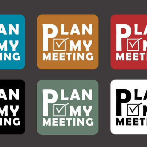 "Logo design ""PLAN MY MEETING"""