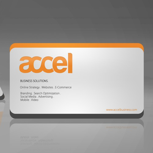 Business Card, Letterhead, Report template and Envelope for Accel Business Solutions