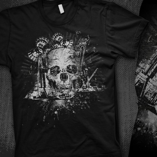 Create edgy oilfield t shirt design!!!