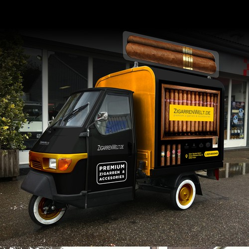 DESIGN OUR NEW CIGAR SHOP TAXI