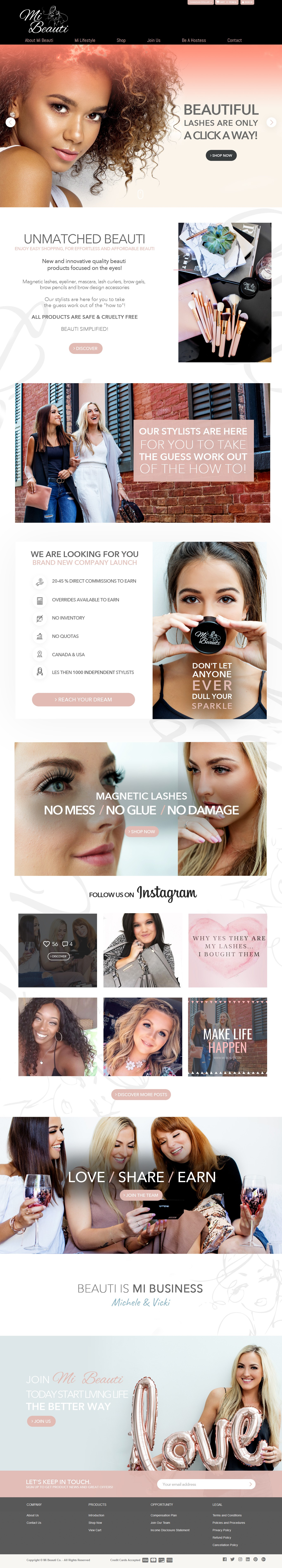 Mi Beauti Landing Page - and more to come!!!