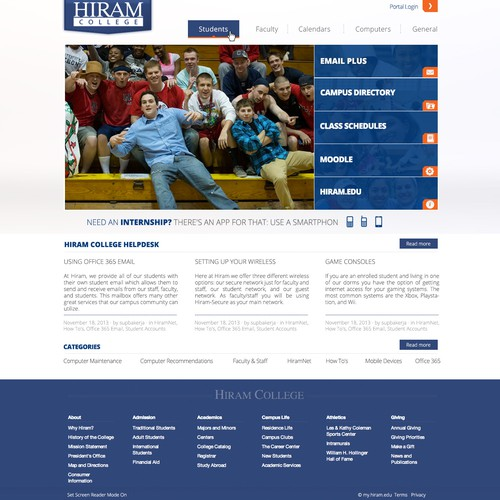 Hiram College Intranet Site
