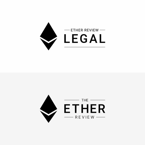 The Ether Review & Ether Review Legal - podcast logo variations