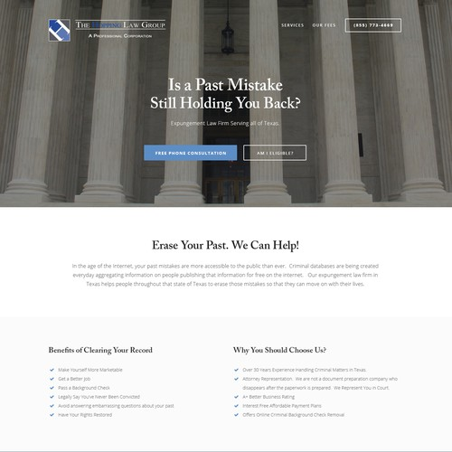 A Law firm landing page