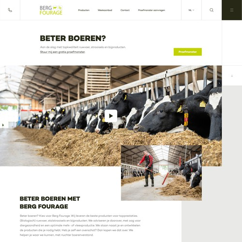 Webdesign for Berg Fourage (Forage)
